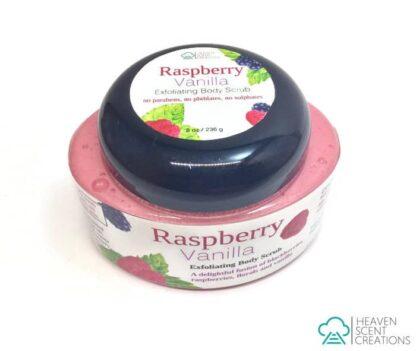 raspberry vanilla 8 oz handmade scrub