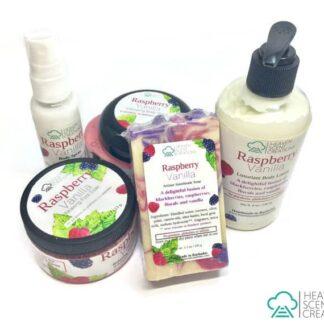 raspberry vanilla handmade gift set