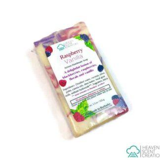raspberry vanilla handmade soap